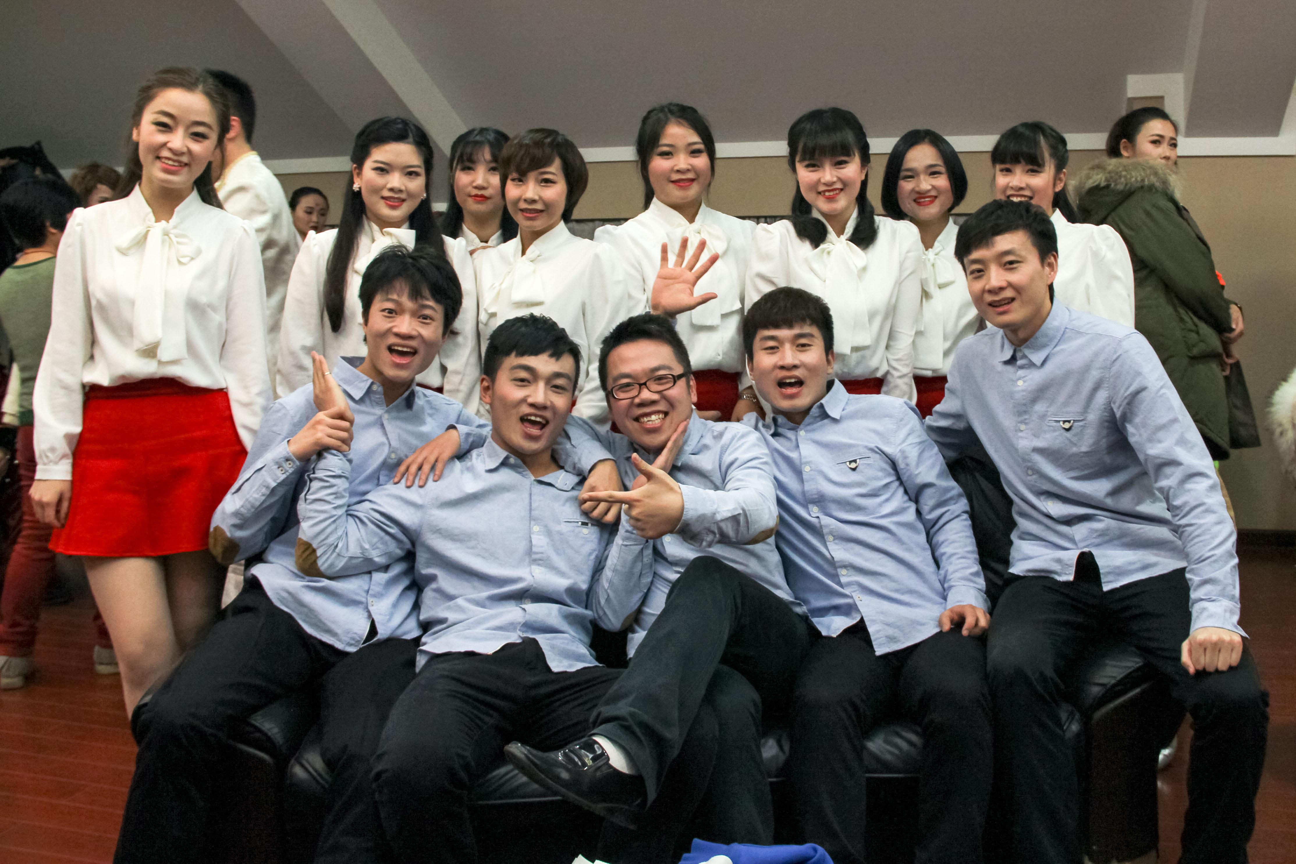 2015年新媒体集团年会追梦节目组-追梦-后台花絮合影